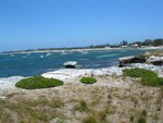 View of jetty in Rottnest Island, where the ferry stops
